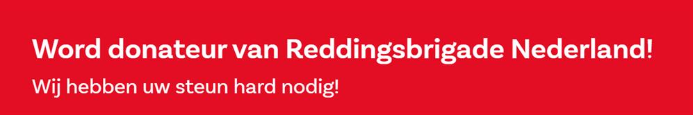 Word donatuer van Reddingsbrigade Nederland
